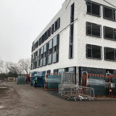North Elevation Glazing To Curtain Walls Levels 1 And 2
